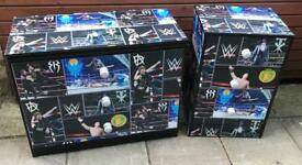 WRESTLING THEMED CHEST OF DRAWERS AND BEDSIDE DRAWER