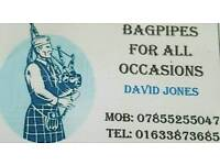 Bagpiper for all occassions