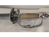 Antique silver and ivory smallsword mid 18 century