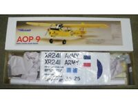 AIRSAIL AUSTER AOP9 BUILDERS KIT - RADIO CONTROLLED PLANE KIT - RC BALSA KIT