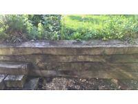 Used rustic railway sleepers various sizes