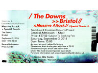 Massive Attack The Downs 3rd september 4 tickets availible £75 each