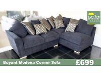Designer Buoyant modena corner sofa + stool £699