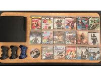 Sony Playstation 3 PS3 500 GB slim console bundle with games and 3 controllers