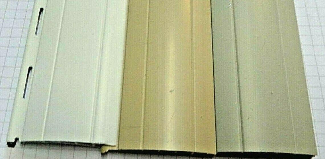 Rollladen Lamelle Ersatz   PVC  Mini  37 u. Maxi 52 mm  grau/beige/weiß neu Neu