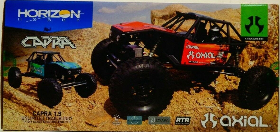 Axial 1/10 Capra 1.9 Unlimited 4WD RTR Trail Buggy, Green AXI03000T2 - $310.00
