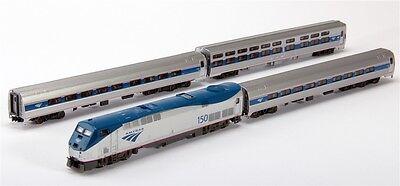 Kato N 106 6285 Amtrak Amfleet Phase Vi P42 Loco   Three Passenger Cars Set New