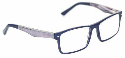 PRADA PR33QV Brille Blau/Grau gemustert glasses FASSUNG