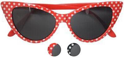Vintage ZABA Polka Dot PUNKTE Cat Eye Sunglasses SONNENBRILLE Rockabilly