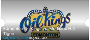 5 Oil Kings tickets March 11, 7 PM - lower bowl