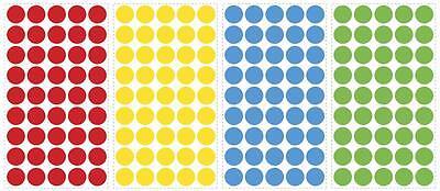 CONFETTI Polka DOTS HuGe LoT 180 Wall Decals Room Decor Stickers Red Yellow PRI - Mint Room Decor
