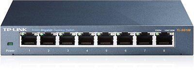 TP-LINK TL-SG108 8 Port Metal Gigabit Ethernet Switch Desktop Network Hub