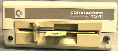 Commodore 1541c Drive tested&working,lever mech,T&D,Manual,J-DOS,R/W card,8/9 SW