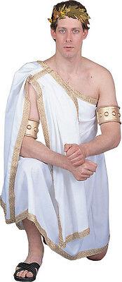 TOGA COSTUME MEN GREEK GOD JULIUS CAESAR ZEUS APOLLO TUNIC ROMAN ROBE HQ 90913 - Greek Tunic Costume