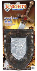 20-TOY-KNIGHTS-SWORD-AND-SHIELD-PLAY-SET-WEAPON-CHILDRENS-KIDS-FANCY-DRESS