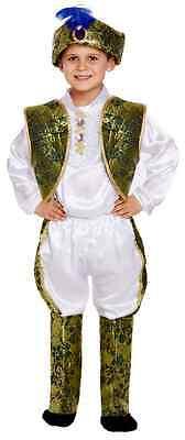 Jungen 5 Prinz Indian Prinz Asiatisch Kostüm Kleid Outfit 4-12 (Indian Asiatische Kostüm)