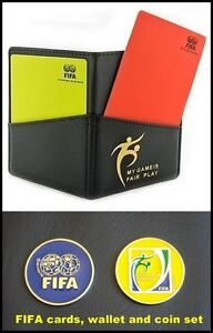 FIFA Fair Play Soccer (Football) Referee Coin, Cards, and Wallet Combo