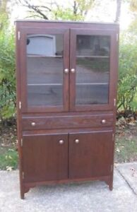 Antique Solid Oak Farmhouse/Kitchen Cabinet