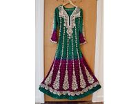 Ethnic Indian Designer Party Wedding Wear, Half Price. Brand new. Stone work.
