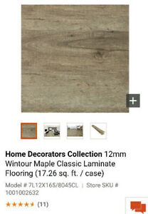 2 Wintour Home Depot  12mm Laminate Flooring boxes
