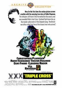 Triple Cross 1967 (DVD) Christopher Plummer, Romy Schneider, Yul Brynner - New!