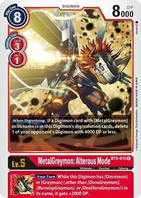 MetalGreymon : Alterous Mode BT5-015 R Digimon Card