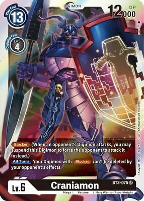 Craniamon BT3-075 SR Digimon Card