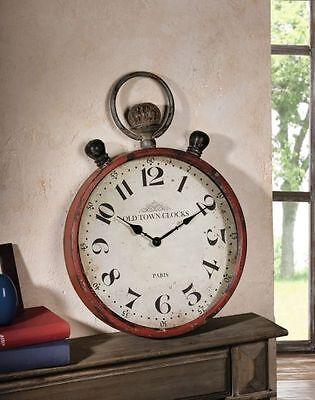 "METALLUHR  ""Old Town Clocks"" WANDUHR DEKOUHR ANTIK UHR NOSTALGIE SHABBY CHIC"
