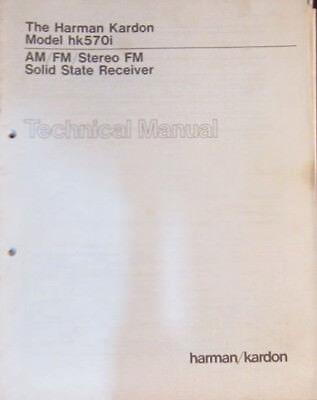 Harman Kardon 570i receiver service repair workshop manual (original copy)