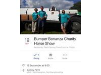 18th September Bumper Bonanza Charity Horse Show