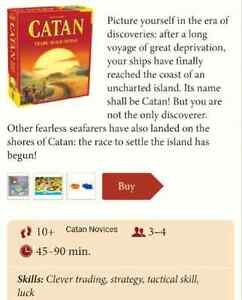Settlers of Catan - Base set, lightly used, includes all pieces!