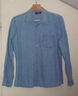 Chemise en jean bleu manches longues jeans dynam taille 42 en tres bon etat