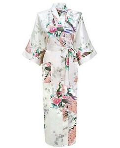 15 colors High Quality Long women lady Bride Kimono Robe satin Night dress Gown