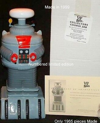 """Limited Edition 14"""" Lost in Space B-9 Robot Collector's Cookie Jar"""