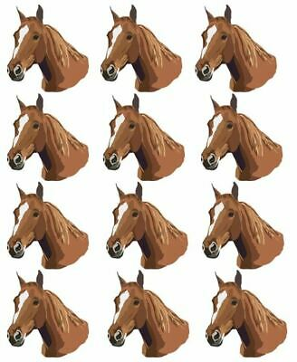 Cake Toppers Horse Cupcake Toppers Edible Image 2