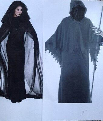 Couple / Matching Sexy GRIM REAPER HORROR HALLOWEEN Fancy Dress Costumes Outfits - Matching Couple Halloween Costumes