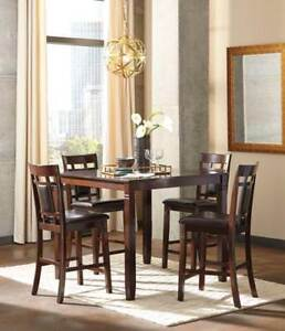 Brand New Ashley 5 Piece Counter Height Dinette Set