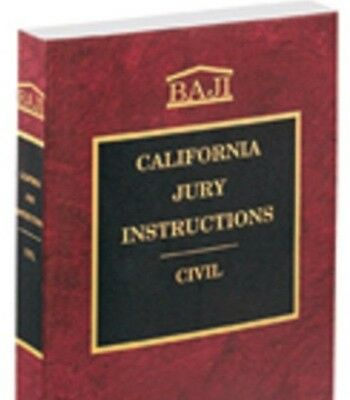 California Jury Instructions Civil Forms Baji 2016 New Paperback Thomson Reuters