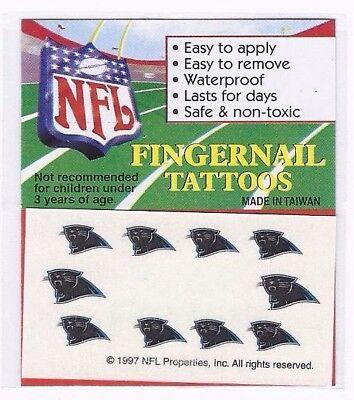 CAROLINA PANTHERS NAIL TEMPORARY TATTOO FINGERNAIL DECAL STICKER SET BODY](Carolina Panthers Tattoo)