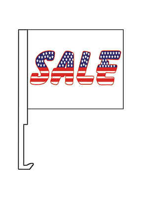 Patriotic Usa Sale 12 X14  Car Window Flag Banner