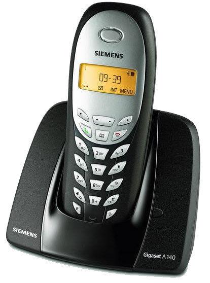 Siemens Gigaset A140 / A 140 analog schnurlos Telefon espresso