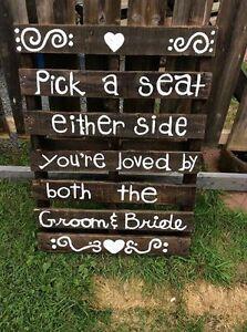 Pick a seat pallet