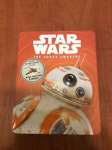 Star Wars The Force Awakens tin with model & book new in plastic