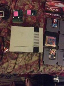Nintendo Entertainment System and Games + All Hook ups