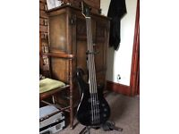 *NEW* Stagg Black 4-String Fretless Bass