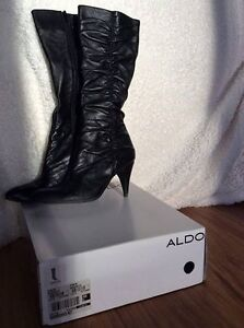 leather aldo gardino boots - size 10