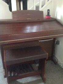 Technics electronic organ and stool