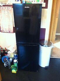 bush black gloss fridge freezer