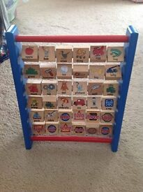bob the builder wooden abacus