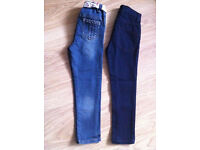 --- 2 Pairs of NEXT Girls Jeans - Hardly used -- 5-6 years ----